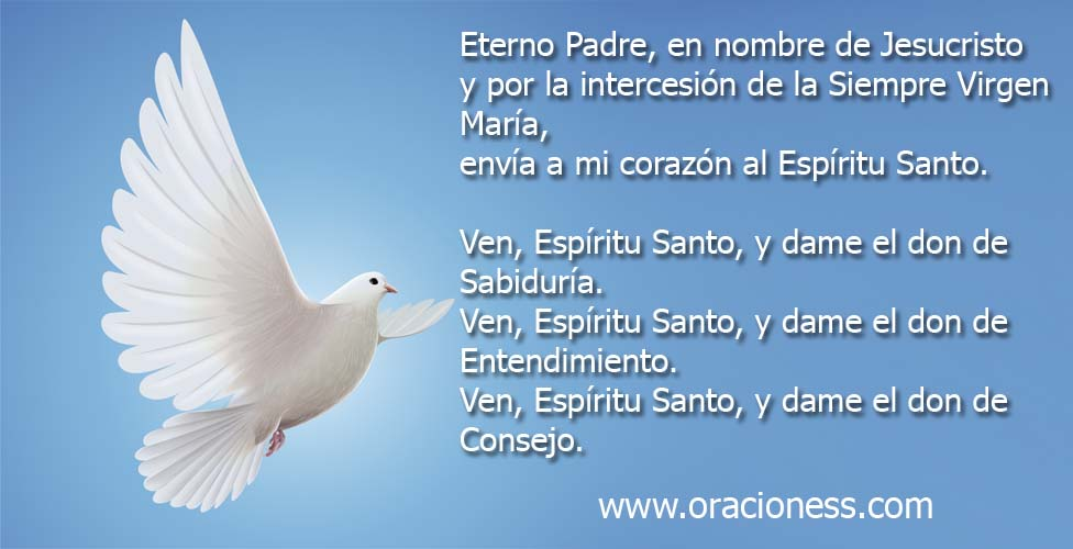 Oración al Espíritu Santo 2