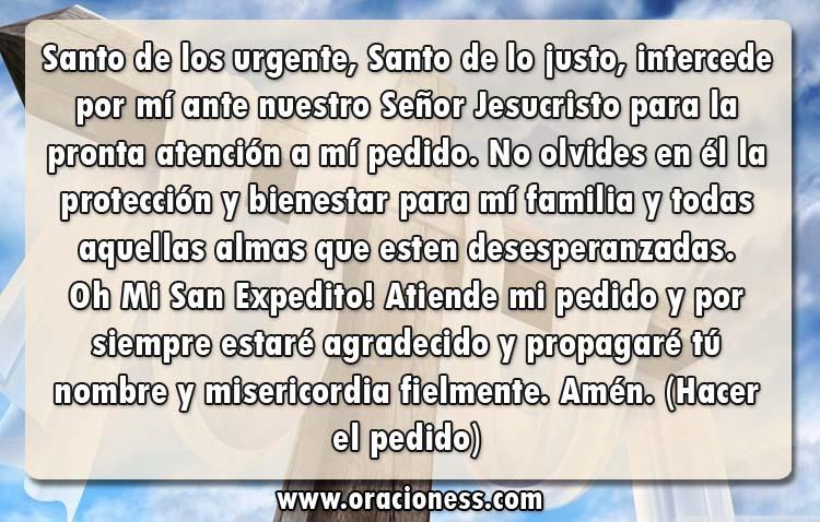 Oración a San Expedito, santo de los urgentes