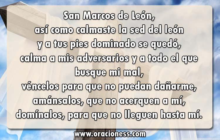Oracion a San Marcos León para amansar