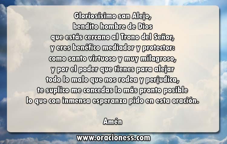 Oración de protección a San Alejo