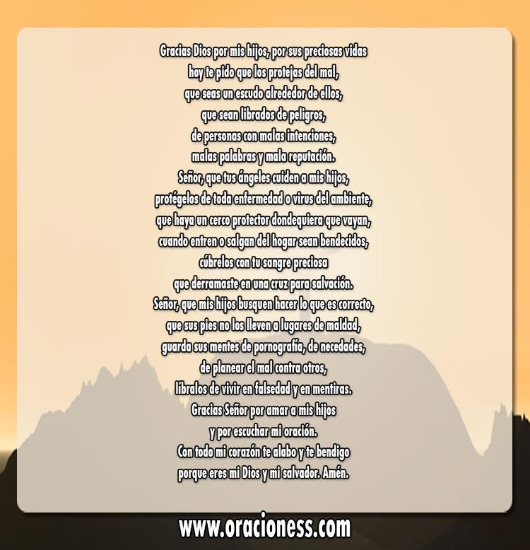Oraciones por los hijos de protección