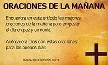 oraciones de la mañana